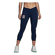 Womens Adidas USA Volleyball Alphaskin 3/4 Capris Tights