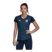 Womens Adidas USA Volleyball Replica Tee Short Sleeve Technical Tops