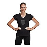 Womens Adidas USA Volleyball Tee Short Sleeve Technical Tops