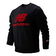 Mens New Balance Athletics Stadium Crew Long Sleeve Technical Tops
