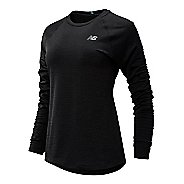 Womens New Balance Heatgrid Crew Long Sleeve Technical Tops