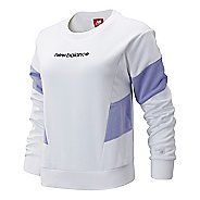 Womens New Balance Athletics Classic Fleece Long Sleeve Technical Tops