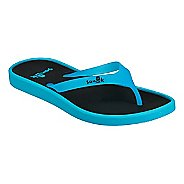 Womens Sanuk Sidewalker Neon Sandals Shoe