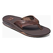 Mens Reef Leather Fanning Sandals Shoe