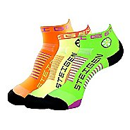 Steigen The Fluro Quarter Pack Socks