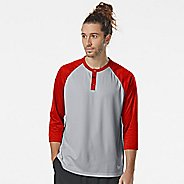 Mens Korsa Fortune 3/4 Sleeve Henley Short Sleeve Technical Tops
