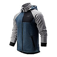 Mens New Balance NB Heat Loft Full Zip Hooded Running Jackets