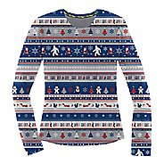 Womens Brooks Ugly Sweater Long Sleeve Technical Tops