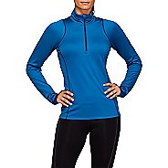 Womens ASICS Thermal Winter Half-Zips Hoodies Technical Tops