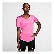 Womens Nike Runway Short Sleeve Technical Tops
