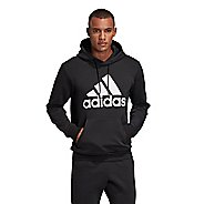 Mens Adidas Must Haves Badge of Sport Fleece Pullover Long Sleeve Technical Tops