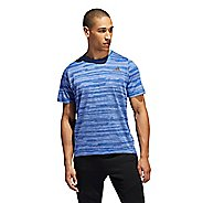 Mens Adidas Freelift Tech Engineered Heather Tee Short Sleeve Technical Tops