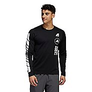 Mens Adidas Moto Tee Long Sleeve Technical Tops