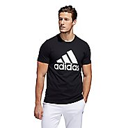 Mens Adidas Basic Badge of Sport Tee Short Sleeve Technical Tops
