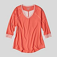 Womens Korsa Threshold 3/4 Sleeve Long Sleeve Technical Tops