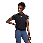 Womens Adidas 3 Stripe Tie Tee Short Sleeve Technical Tops