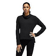 Womens Adidas Cozy Cover Up Long Sleeve Technical Tops