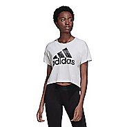 Womens Adidas Sport ID Graphic Tee Short Sleeve Technical Tops