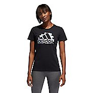 Womens Adidas See U Tee Short Sleeve Technical Tops
