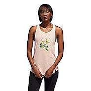 Womens Adidas Floral Essentials Sleeveless & Tank Technical Tops