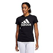 Womens Adidas Basic Badge of Sport Tee Short Sleeve Technical Tops