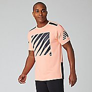 Mens New Balance Printed Velocity Short Sleeve Technical Tops