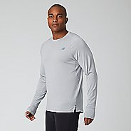 Mens New Balance Q Speed Seasonless Long Sleeve Technical Tops