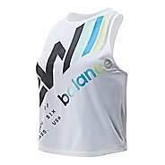 Womens New Balance Printed Velocity Crop Sleeveless & Tank Technical Tops