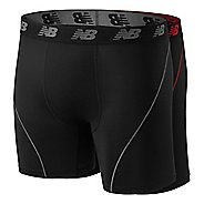 Mens New Balance 2.0 Ice Collection 6-inch - 2 Pack Boxer Brief Underwear Bottoms
