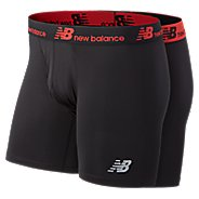 Mens New Balance Dry/Fresh 6-inch - 2 Pack Boxer Brief Underwear Bottoms