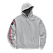 Mens Champion Powerblend Graphic Half-Zips and Hoodies Technical Tops