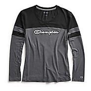 Womens Champion Phys Ed Tee Long Sleeve Technical Tops