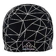 Womens Nathan HyperNight Reflective Pony Tail Beanie Headwear
