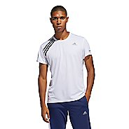 Mens Adidas Run It Tee 3 Stripe Short Sleeve Technical Tops