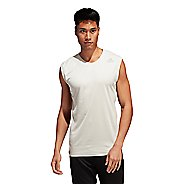 Mens Adidas Training 3 Stripes Tee Heat Ready Sleeveless Tank Technical Tops