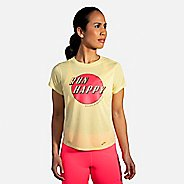 Womens Brooks Distance Graphic Short Sleeve Technical Tops