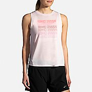 Womens Brooks Distance Graphic Tanks Technical Tops
