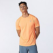 Mens New Balance Impact Run Short Sleeve Technical Tops