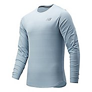 Mens New Balance Q Speed Fuel Long Sleeve Technical Tops
