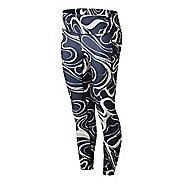 Womens New Balance Printed Impact Run Crop Tights