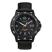 Mens Timex Expedition Gallatin Solar 44mm Leather Strap Watches