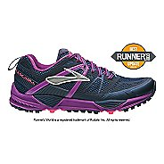Womens Brooks Cascadia 10 Trail Running Shoe - Midnight 6