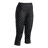 Womens CW-X 3/4 Length Stabilyx Print Capris Tights - Black/Polka Dots XS