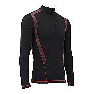 Mens CW-X Insulator Web Long Sleeve Technical Tops - Black/Grey/Red L