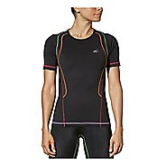 Womens CW-X Ventilator Web Short Sleeve Technical Tops - Black/Rainbow XS