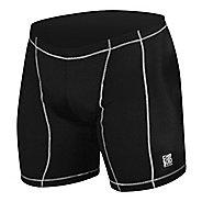 Mens De Soto Carrera Tri - Low Cut Fitted Shorts - Black/White XL