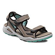Womens Ecco USA Biom Terrain Sandal-Chiappo Sandals Shoe - Warm Grey/Emerald 41