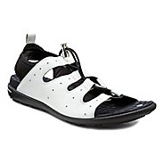 Womens Ecco Jab Toggle Sandals Shoe - White/Black 42