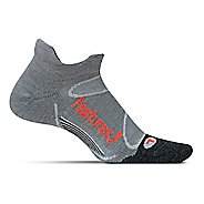 Feetures Elite Merino+ Light Cushion No Show Tab Socks - Grey Lava L
