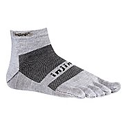Injinji Footwear RUN Lightweight Mini Crew Socks - Grey M